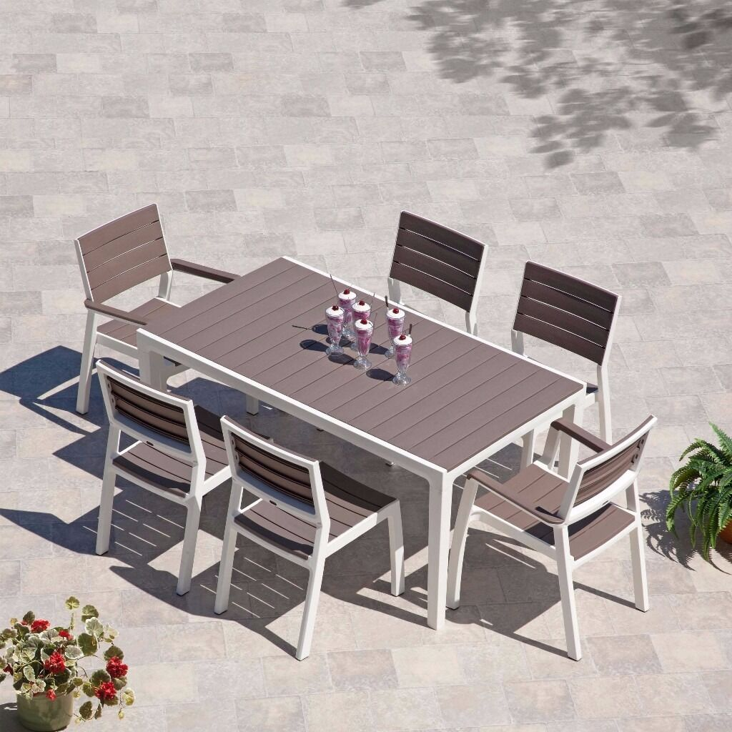 ketter harmony garden outdoor dining table 6 seater HALF PRICE garden  furniture clearance stock. ketter harmony garden outdoor dining table 6 seater HALF PRICE