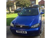 Vauxhall Astra convertible 1.8 petrol. Blue. Lovely reliable drive. Good condition.