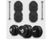 Brand new 50kg dumbbell set (plus barbell) for sale