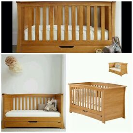 Mamas & Papas Ocean Cot / Day Bed Golden Oak