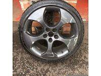 18'' VW GOLF GTI MONZA MK5 MK6 ALLOY WHEELS TYRES CADDY PASSAT JETTA 5X112
