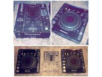 2x pioneer cdj1000 mk3s and pioneer djm 400 mixee