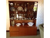 Vintage style glass display cabinet