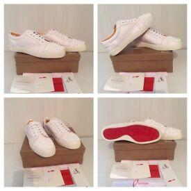 Christian Louboutin White Low Top Unisex Men Women Trainers Shoes Christmas Black Friday Sale