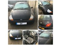 Ford Ka Style 2004 3 door Black 1.3 all parts available for breaking