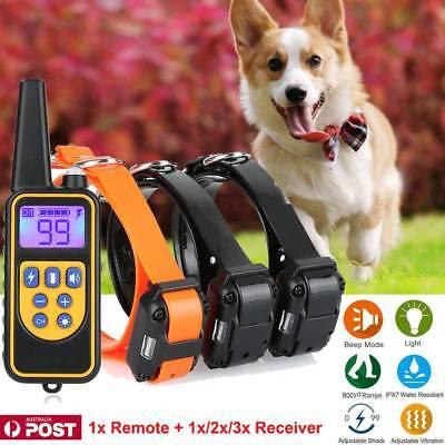 Anti Bark Remote Control Dog Training Collar Sound & Vibration Stop Barking AU