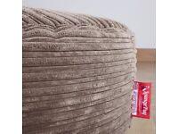 Lounge Pug® Cord, Mega Mammoth Bean Bag - Cord Graphite Grey