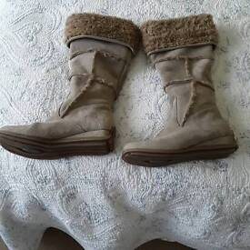 Beige suede boots size 6.5