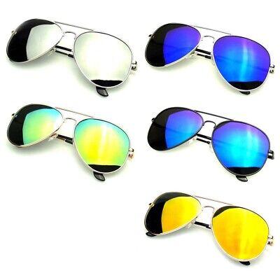 Polarized Sunglasses Aviator Men Women Vintage color Mirrored Metal (Polarized Mirrored Aviator Sunglasses For Men)