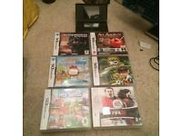 Black Nintendo Ds lite and games