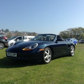 Beautiful Porsche Boxster convertable for sale 2.5 l 1999 perfect condition excellent runner MOT