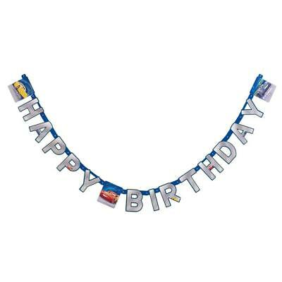 Cars 3 Hinged Jointed Happy Birthday Banner 7.59 Feet 1 Ct Party Supplies New