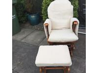 Glider chair and stool