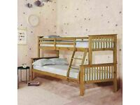🔵💖🔴furniture for kids🔵💖🔴Kids Bed Trio Wooden Bunk Bed In Multi Colors Optional mattress