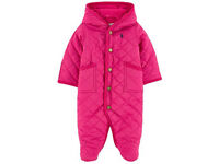 Ralph Lauren Polo Baby Girls Quilted Barn Footed Bunting All in one Romper Fleece F44