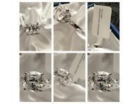 Womans Crystal Swarovski Aquamarine Colour Crystal (Oct 27x18 mm) Ring