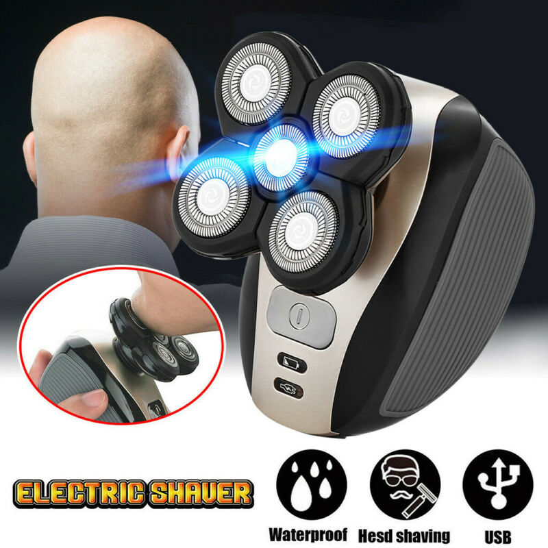 5 In 1 4D Rechargeable Bald Head Shaver Razor Hair Clipper B