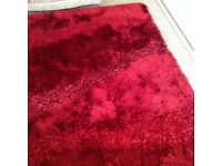 Dark red lounge rug thick pile only used in holiday home lovely condition