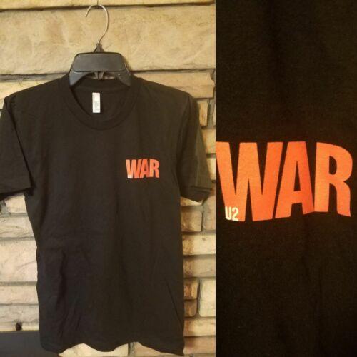 U2 Shirt SMALL Short Sleeve Concert t BLACK U2 WAR Logo on chest NEW