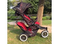 Phil And Teds Dot Double Buggy with Rain Cover Only One Year Old Great Condition