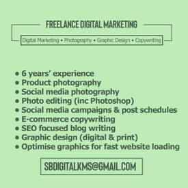 Freelance Digital Marketer Available for Projects (6 years experience)