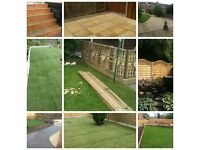 SLABBING / FENCING / TURFING / DECKING / TREE WORK / MAJOR GARDEN CLEARANCES / ALL THIS & MUCH MORE