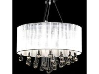 Chandelier with 85 Crystals White-60345