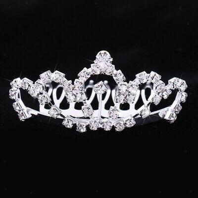 Erwachsene Kinder Strass Prinzessin Crown Haarspange Hochzeit Braut Tiara