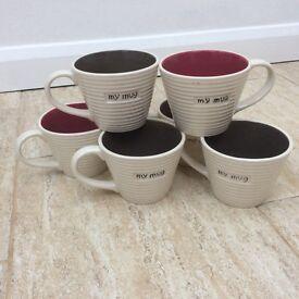 Set of 6 Next mugs