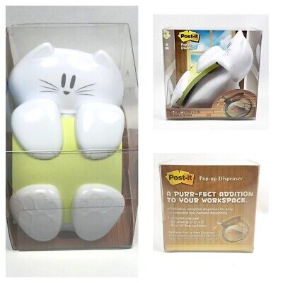 Post-it Cat Pop-up Dispenser For 3 X 3 Notes White Cat-330 260822 New In Box
