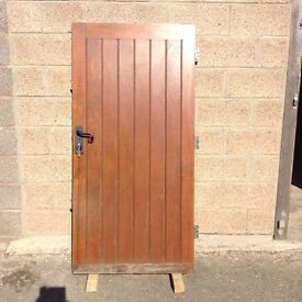OAK DOOR AND FRAME WITH JIM LAWRENCE HANDLE AND WORKING LOCK