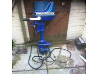 5 H.P. ARCHIMEDES OUTBOARD -electric start. Spares or repair.