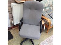 Office chair grey comfortable