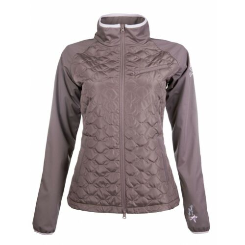 HKM Diamonds Milky Riding Jacket - Mocha with pink accents