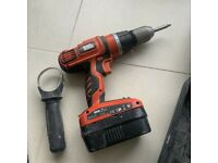 Black & Decker #HP188F4 18V Combi Hammer DRILL + Two (2) Batteries