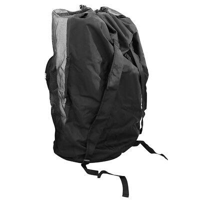 Large Drawstring Mesh Duffel Bag Backpack for Scuba Diving & Snorkeling Gear