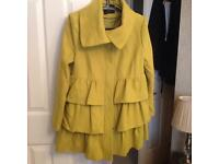 Ladies Dorothy Perkins green coat size 14