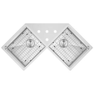 undermount Sink | Corner Undermount sink | 16 Gauge | Free Grids | PREMIUM GRADE ONLY