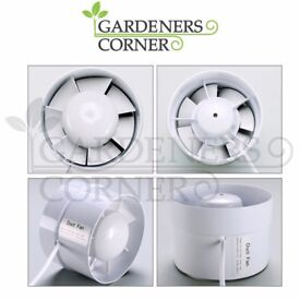 """Hydroponics 5"""" Duct Booster Inline Blower Fan Cooling Exhaust Blower Air Cooling"""