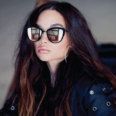 NEW QUAY Super Girl Black/Silver Mirror Sunglasses
