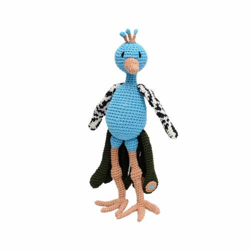 Peacock Handmade Amigurumi Stuffed Toy Knit Crochet Doll VAC