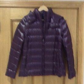 New Ladies Benetton purple puffs jacket