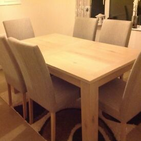 Brand new Dining table,6 chairs, sideboard and mirror
