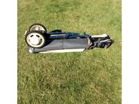 Junior collapsable golf trolley bag and old clubs