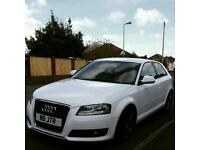 Immaculate 2010 Audi A3 2.0tdi 140bhp, in Ibis white!, genuine s3 alloys in custom paint!