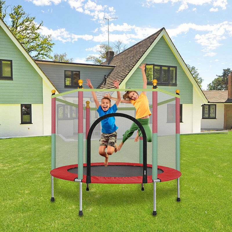 5FT Kid Mini Jumping Round Trampoline Exercise W/ Safety Pad