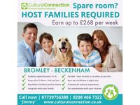 Host Families wanted! Bromley, Beckenham & Surrounding