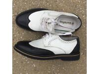 Black and white 1920's Al Capone shoes UK8