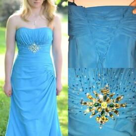 Baby blue prom pageant dress