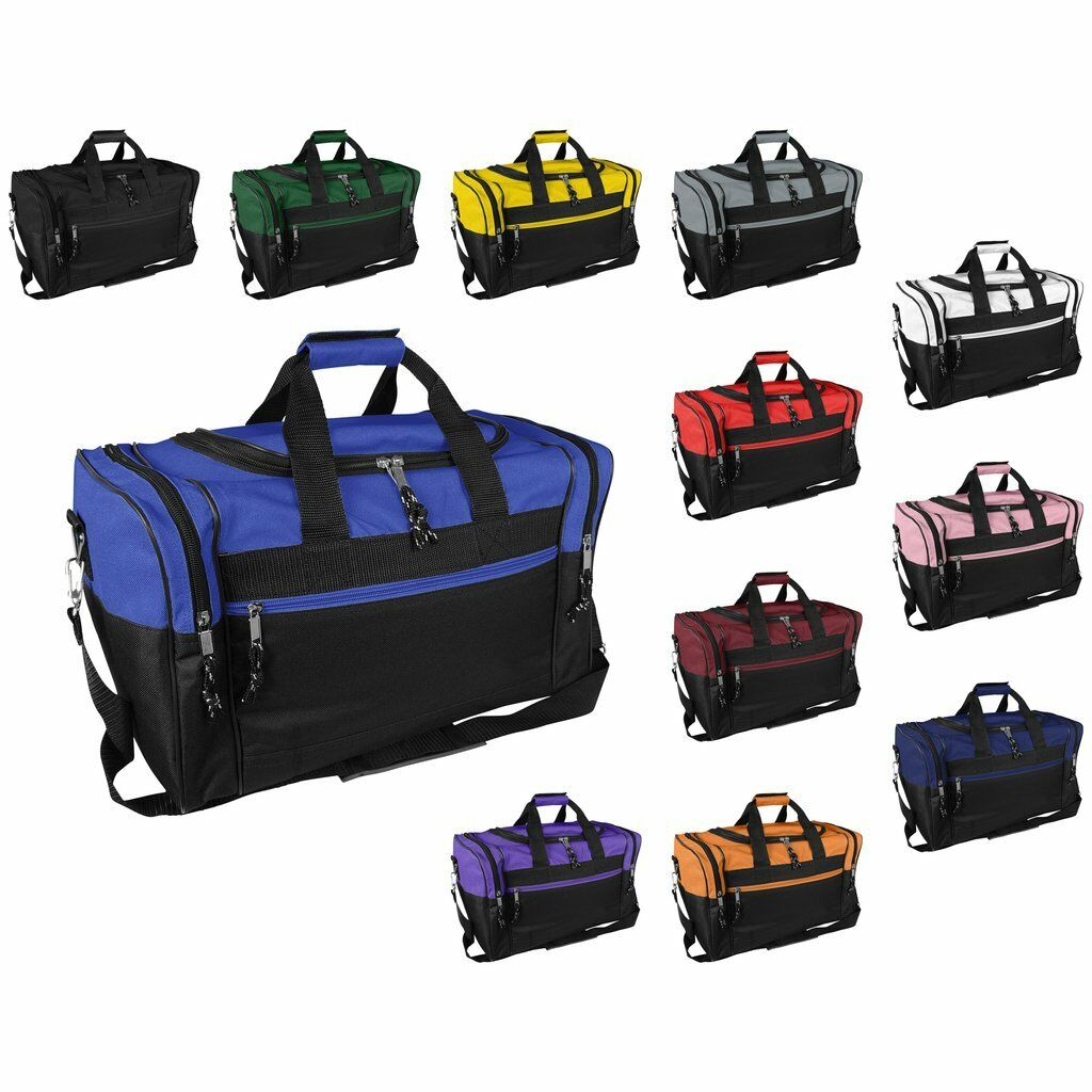 "DALIX 17"" Duffel Bag Bag Sport Travel Carry-On Workout Gym M"